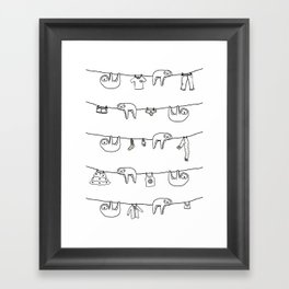 Sloth Laundry Time Framed Art Print