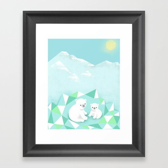 Arctic Den Framed Art Print