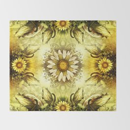 """Victorian Garden Spring Flowers"" Throw Blanket"