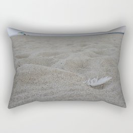 Beach Bird Feather Rectangular Pillow