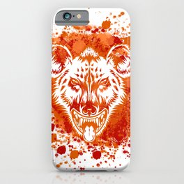Anger Hyena iPhone Case