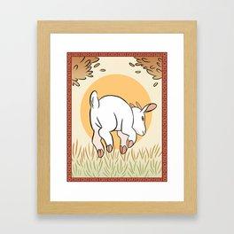 YoTR Goat Framed Art Print