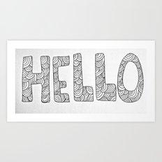 Wavy Hello Art Print