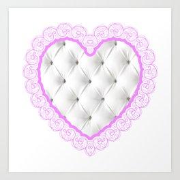 chesterfield heart Art Print