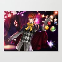 kuroshitsuji Canvas Prints featuring Joker  by K.Koji