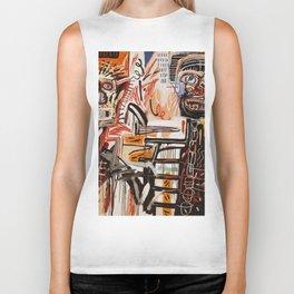 A vectorised Basquiat Biker Tank