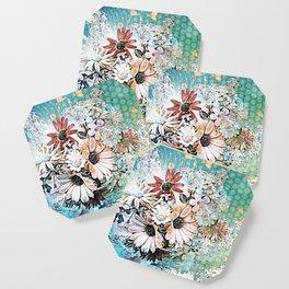 Pop art floral Coaster