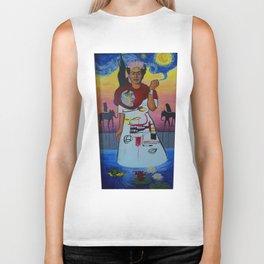 Frida-Basquiat-Van Gogh-Keith Haring-Claude Monet-Dali-Picasso Mesh Biker Tank
