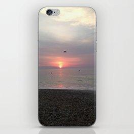 Flying sunrise iPhone Skin