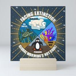 Facing Extinction:  Global Warming's Not Cool 2 Mini Art Print