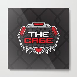 The Cage Fight Illustration Metal Print