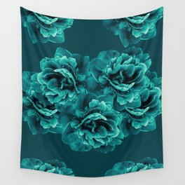 Turquoise Peony Flower Bouquet #1 #floral #decor #art #society6 Wall Tapestry