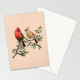Northern Cardinal Mates Stationery Cards
