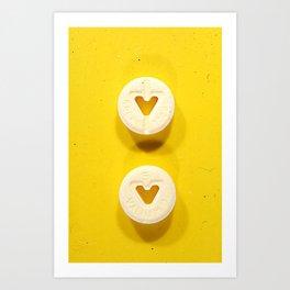 Yellow Valium Art Print