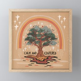Calm and centered Framed Mini Art Print