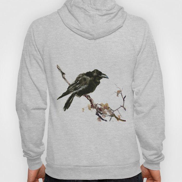 Raven, Raven art, Raven Design, Crow painting Hoody