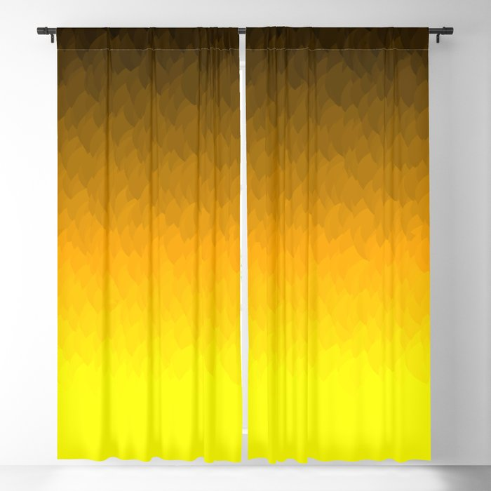 Black Orange Yellow Ombre Flames Blackout Curtain By