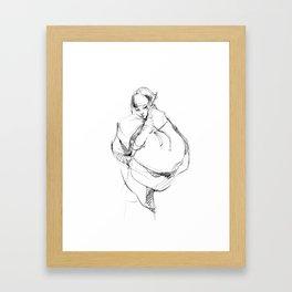 girl in Hanbok Framed Art Print