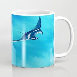 manta ray - raie manta  - et roches Coffee Mug