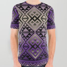 The Lodge (Purple) All Over Graphic Tee