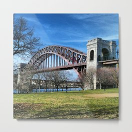 HELLS GATE BRIDGE NYC Metal Print