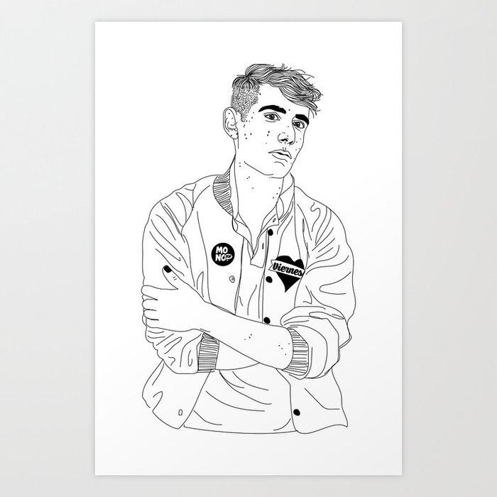 Álex Anwandter Art Print