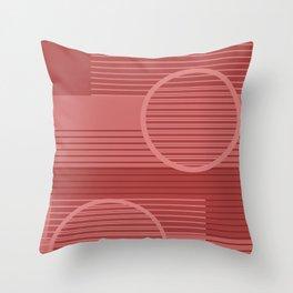 Geometric Minimal - Terracotta Throw Pillow