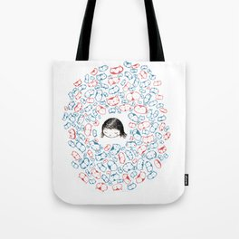 she mostly dreams in cats  Tote Bag