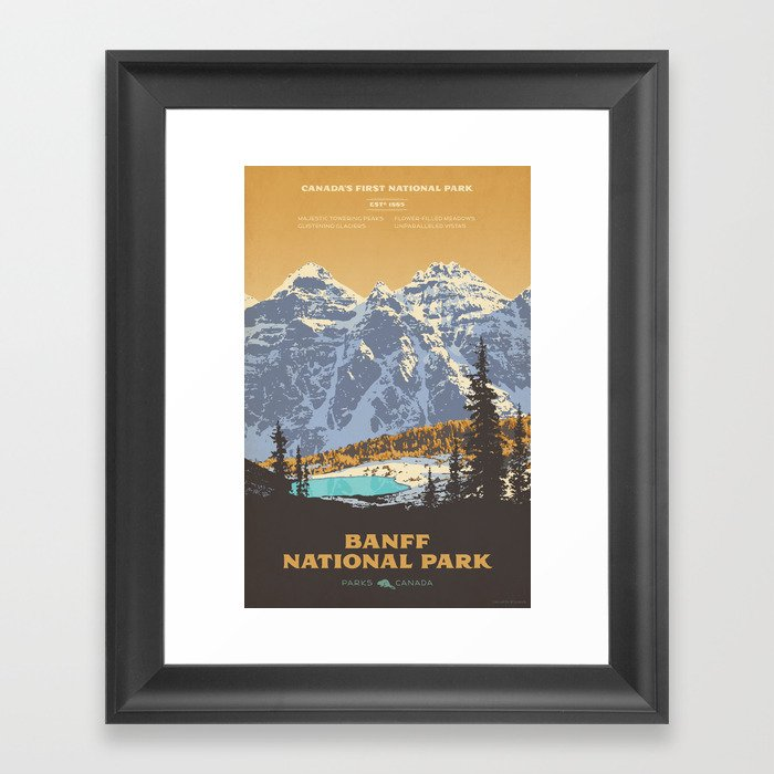 Banff National Park Gerahmter Kunstdruck