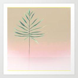 Pink & Palm Art Print