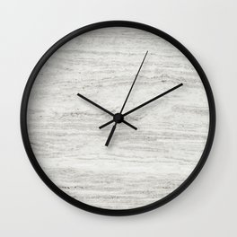 White Gray Marble Wall Clock