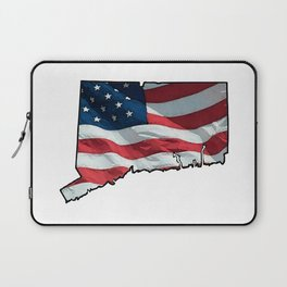 Patriotic Connecticut Laptop Sleeve