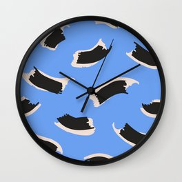 Animal Stripes on Blue Wall Clock