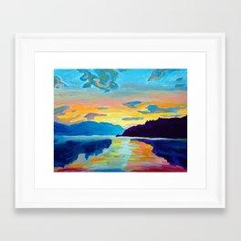 Crossing Lake Okanagan Framed Art Print