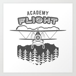 Vintage Airplane Emblem Art Print