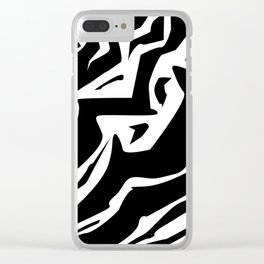 Zebra Print (abstract) Clear iPhone Case