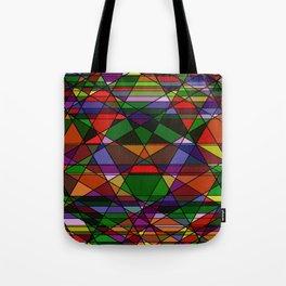 Stain Glass Mosaic Dark Tote Bag