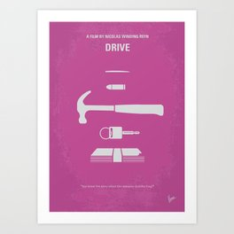 No258 My DRIVE minimal movie poster Art Print