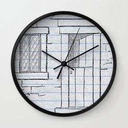 Paper House Wall Clock