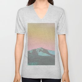 teal hills raibow skies Unisex V-Neck