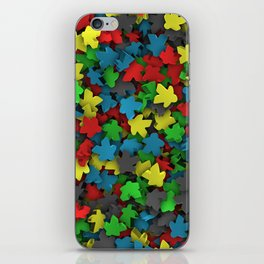 Varicoloured meeples iPhone Skin