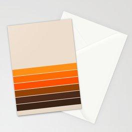 Golden Spring Stripes Stationery Cards