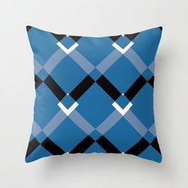 Chevrons Navy Throw Pillow
