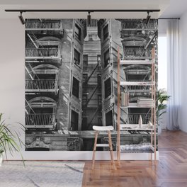 New York fire escapes Wall Mural
