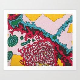 Creation - Abstract Drawing Art Print