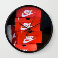 nike Wall Clocks featuring Nike by I Love Decor