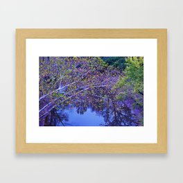 Color over the Water Framed Art Print