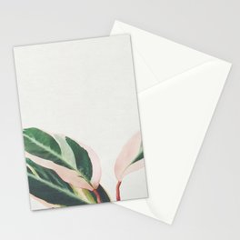 Pink Leaves III Stationery Cards