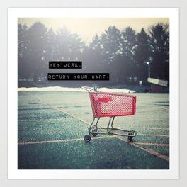 Grocery Cart Rage  Art Print