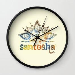 Santosha Yoga & Meditation Wall Clock